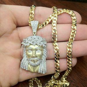 24k solid gold Jesus piece necklace